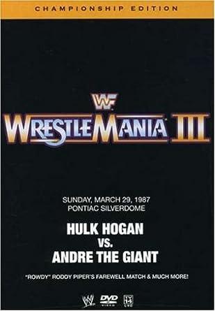 Amazon com: WWE: WrestleMania III (Championship Edition): WWE