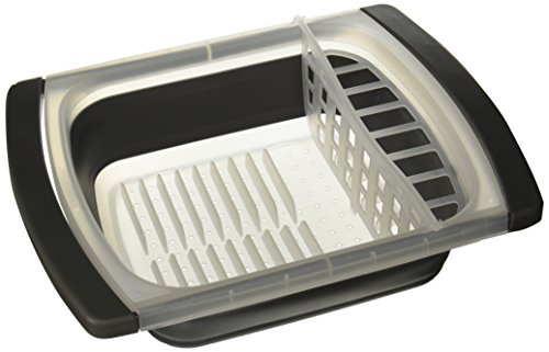 Progressive Prepworks by Collapsible Over-The-Sink Dish Drainer, Large Washing Basin, Dish Tub