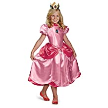 Disguise Nintendo Super Mario Brothers Princess Peach Deluxe Girls Costume, Small/4-6x