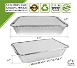 55 Pack - 2.25 LB Aluminum Pan/Containers with