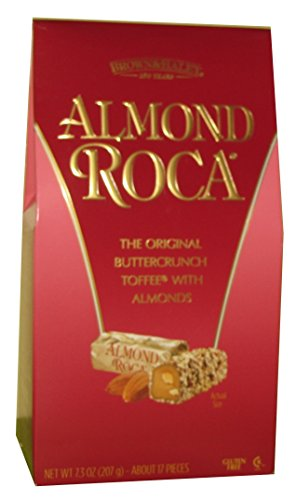 Brown & Haley Toffee (Brown & Haley Roca Buttercrunch Toffee with Chocolate and Almonds 7.3 Oz)