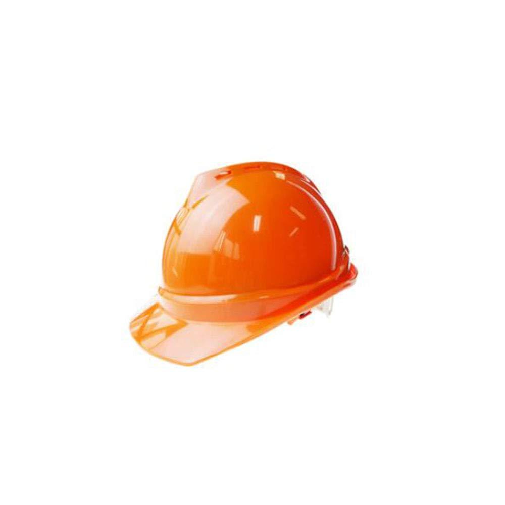 ZHANGXLMM Schutzhelm Seite Sommer Sonnenschutz Sonnencreme Atmungsaktiv ABS Hohe Festigkeit Arbeitsschutz Anti-Milben Construction,Orange