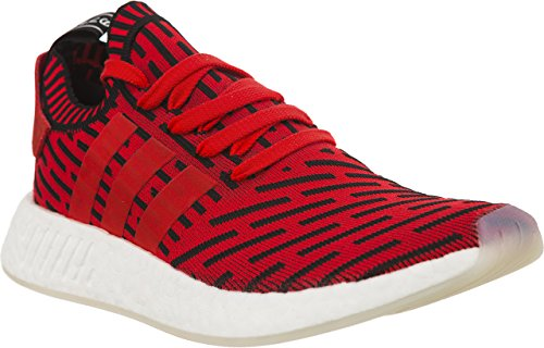 adidas NMD R2 PK 910 Unisex Sneakers, (Core Red/Footwear White)