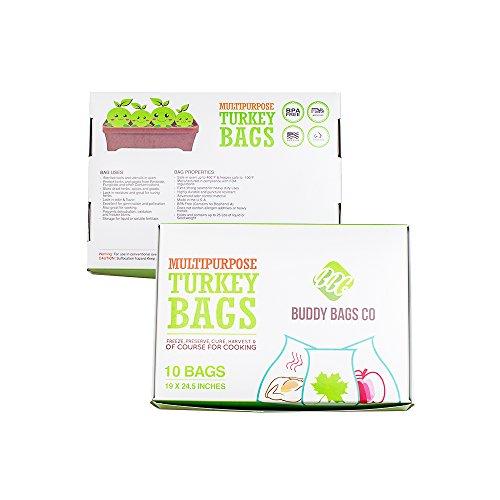 - Buddy Bags Co Multipurpose Nylon Turkey Oven Bags - 19