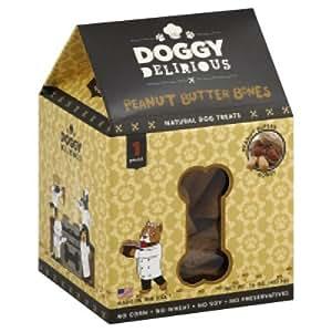 Amazon.com: Doggy Delirious Natural Dog Treats Peanut