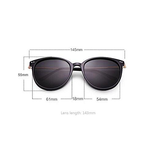 de Personalidad uso para sol de Star UV400 de sol el Protección Gafas Protección señoritas de aire excursionistas Regalo Gafas sol polarizadas UV conducción para Gafas para sol Nueva Gray Black Frame para al libre Vin dAczdq