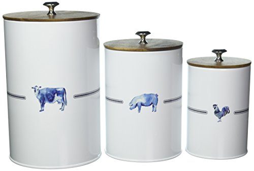 Paula Deen Pantryware Food Storage Canister Set, 3-Piece, Country Barnyard ()