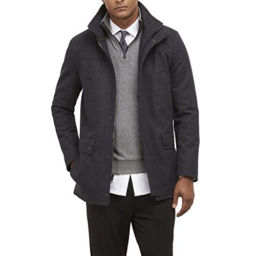 Price comparison product image Kenneth Cole REACTION Men's Classic Barn Coat,  Charcoal,  X-Large