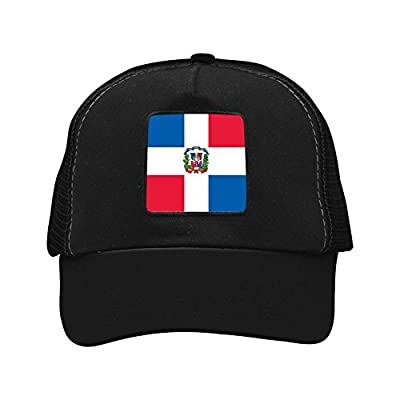tolbert wisfins Dominican Republic Flag Mesh Cap Patterned Print Baseball Cap Snapback Trucker Hat