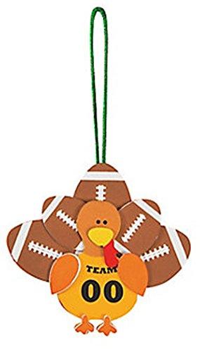 Foam Football Turkey Ornament Craft Kit/1 DOZEN ()
