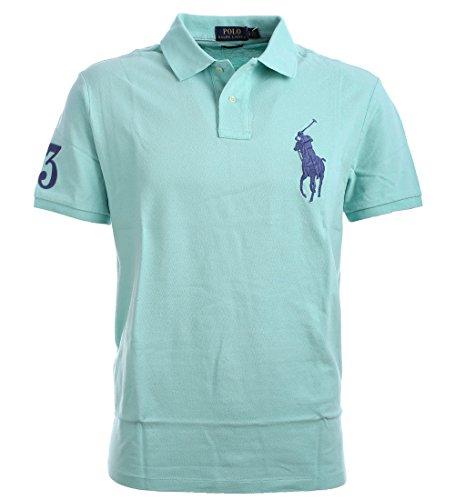 ed46b29b243d05 Polo Ralph Lauren Mens Big Pony Custom Slim Fit Mesh Polo Shirt (X-Large