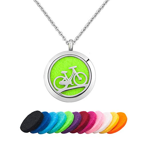 Moonlight Collections Bicycle Aromatherapy Essential Oil Aroma Diffuser Perfume Bike Cycling Fragrance Locket Scented Pendant ()