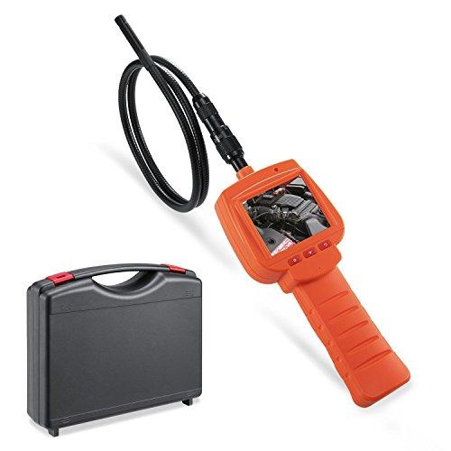 Depstech 3 MP Wasserdichte Endoskopkamera 2,4 Zoll LCD-Bildschirm 9mm Inspektionskamera VGA Auflösung 4 Einstellbare LEDs Endoskop - 1M Orange