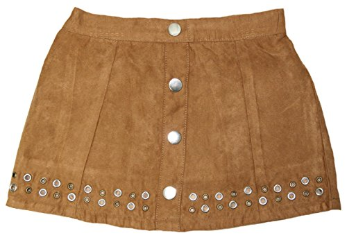 - Flapdoodle Toddler Girls Faux Suede Mini Skirt (Chipmunk, 3T)