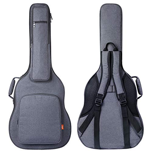 - CAHAYA Guitar Bag [Reinforced Version] Guitar Case 0.7 Inch Overly Thick Sponge Padded Extra Protection with 5 Pockets,Soft Interior,Neck Cradle,Back Hanger Loop for 40 41 in Acoustic Classical Guitar