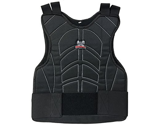 (Maddog Padded Paintball and Airsoft Chest Protector with Adjustable Elastic Straps - Black )