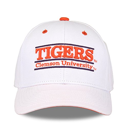 NCAA Clemson Tigers Unisex NCAA The Game bar Design Hat Tigers, White, Adjustable