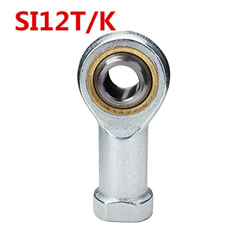 CocinaCo 12mm SI12T/K Female Thread Rod End Joint Bearing Right Hand Thread Joint Bearing