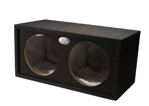 Absolute USA DSS12L 12-Inch Sealed Dual Subwoofer Car Truck Bass Box, Black