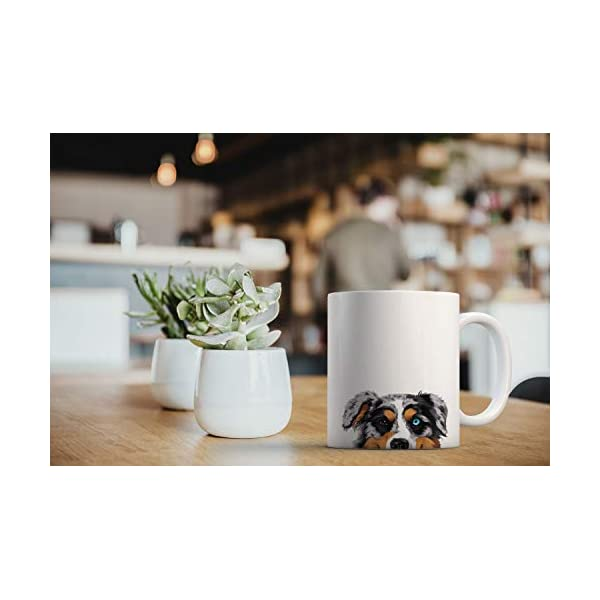 MUGBREW Merle Aussie Australian Shepherd Dog Ceramic Coffee Gift Mug Tea Cup, 11 OZ 6