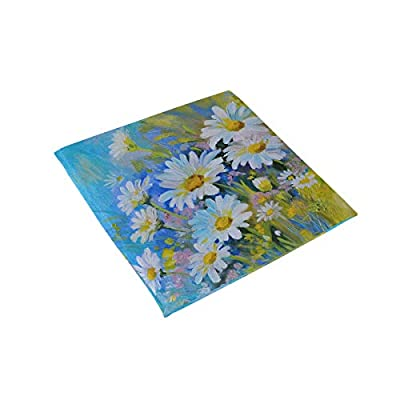 Bardic FICOO Home Patio Chair Cushion Flower Daisy Oil Painting Square Cushion Non-Slip Memory Foam Outdoor Seat Cushion, 16x16 Inch: Home & Kitchen