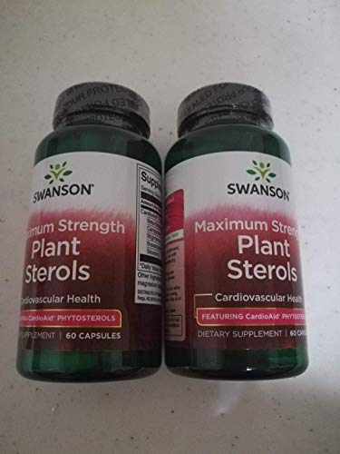 Swanson Ultra Maximum Strength Plant Sterols CardioAid (2 Bottles Each of 60 Capsules)