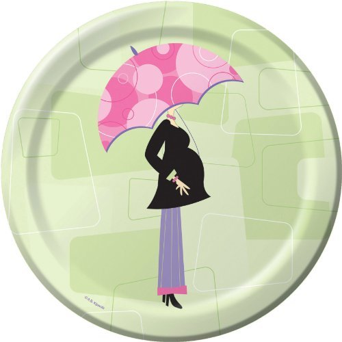 Mod Mom Baby Shower Lunch Plates 8ct