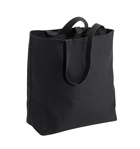 Large Heavy Canvas Twill Grocery Tote Bag (1, BLACK)