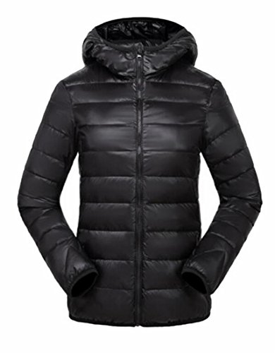 Padded Ultra Light Women's Packable Hoodies Down Black Coats Generic qxvw4II