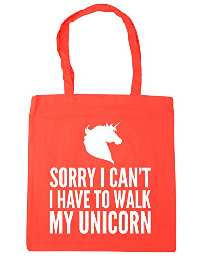 I unicorn Shopping 42cm I walk Tote Bag HippoWarehouse x38cm to Beach Gym have Sorry litres can't 10 Coral my nqt66F8wvx
