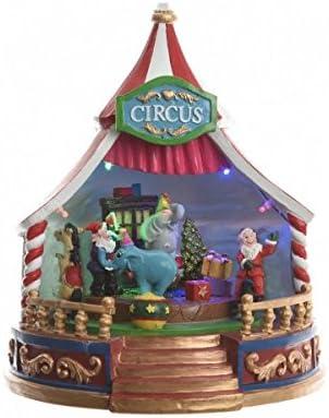 Música Navidad pueblo Circus navideño Pérgola 21,5 cm: Amazon.es ...