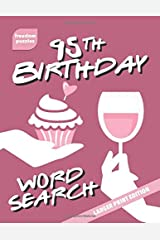 95th Birthday Word Search: Large Print Puzzle Book (Cupcake Celebration Cover) Paperback