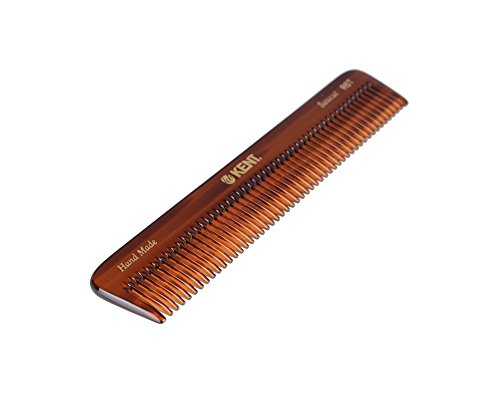 Kent The Hand Made Comb Coarse/Fine for Men 6.5 Inch, 1 Ounce