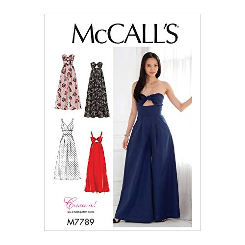 (McCall's Patterns M7789 Misses' Dresses and Jumpsuits Sewing Pattern,)