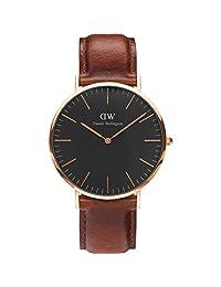 Daniel Wellington Men's Classic St. Mawes DW00100124 Rose Gold Leather Quartz Watch