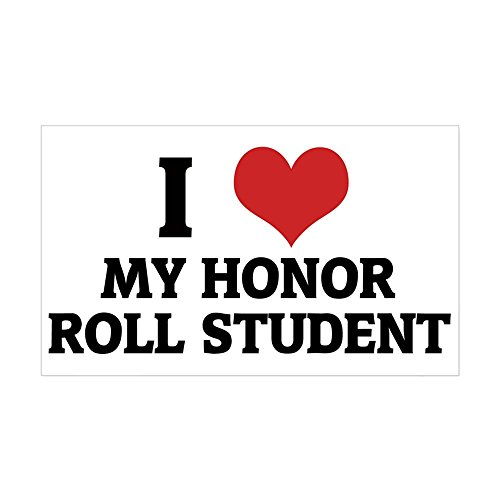 CafePress - I Love My Honor Roll Student Rectangle Sticker - Rectangle Bumper Sticker Car Decal (Honor Stickers Roll)