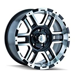 Ion Alloy Style 179 Black Wheel with Machined Face/Lip (16x8\