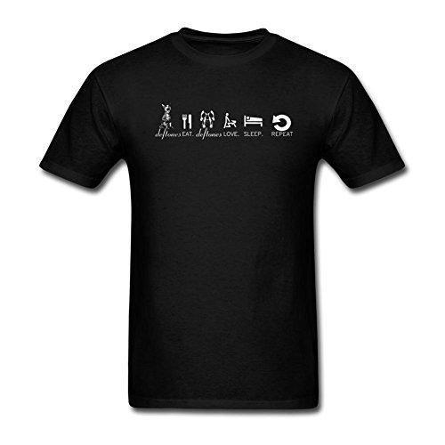 TYMLLER Men's Deftones Eat Love Sleep Logo T-shirt Size XL Black