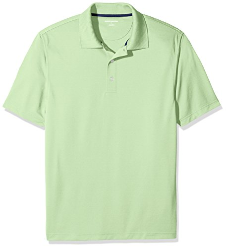 Amazon Essentials Men's Regular-Fit Quick-Dry Golf Polo Shirt, Lime Green, Small (Add Visa Gift Card To Bank Account)