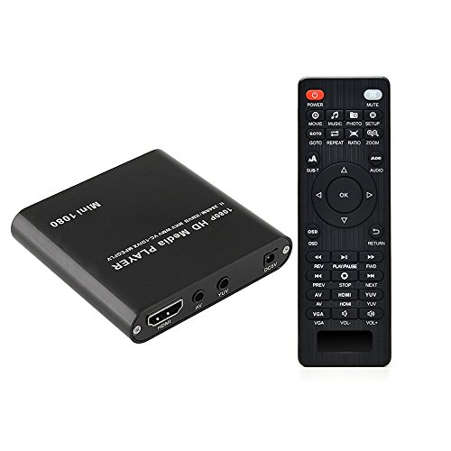 HDMI Media Player, AGPtek Black Mini 1080p Full-HD Ultra HDM