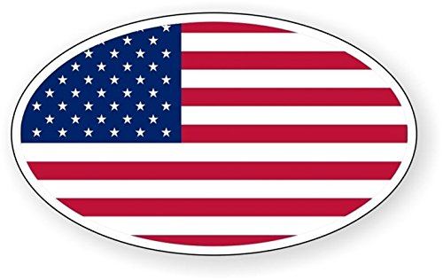 1 Set Momentous Unique American Flag Oval Window Stickers Signs Laptop Luggage Hoverboard Wall Graphics Hard Hat Label Decals Decor Vinyl Art Sticker Decal Patches Size 3