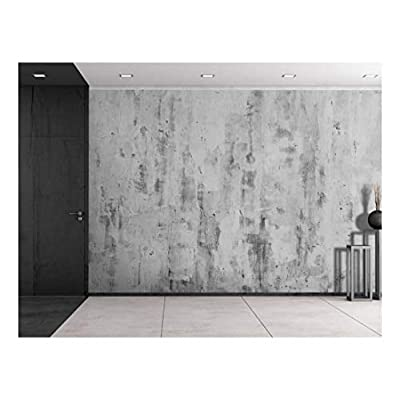 Gray Textured Painted on Wall Wall Mural Removable...