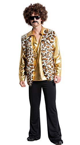 Yandy Exclusive70's Men's Far Out Halloween Hippie Costume Small/Medium Honey/Gold]()