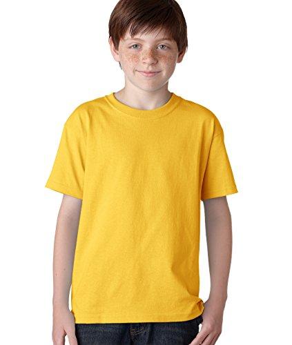 Gildan boys Heavy Cotton T-Shirt-GOLD-L
