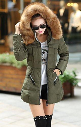 Verde Verde oliva oliva oliva Cappotto Maniche Giacca lunghe Donna SMITHROAD trapuntata Basic 0wPdxPq8