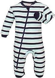 ZIPPYJAMZ Organic Baby Footless Sleeper Pajamas with Inseam Zipper for Quicker and Easier Diaper Changes