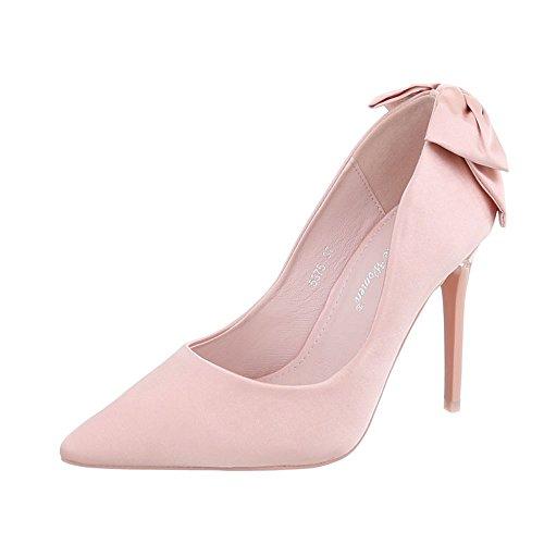Ital-Design High Heel Pumps Damen-Schuhe Pfennig-/Stilettoabsatz High Heels Pumps Rosa, Gr 39, 5375-