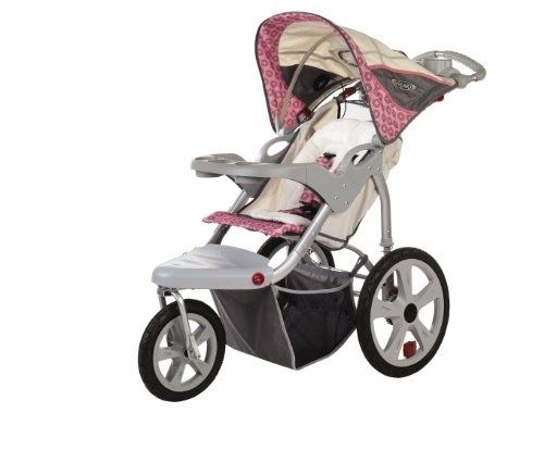 Pacific Cycle InStep Grand Safari Swivel Wheel Jogger, Tan/Pink