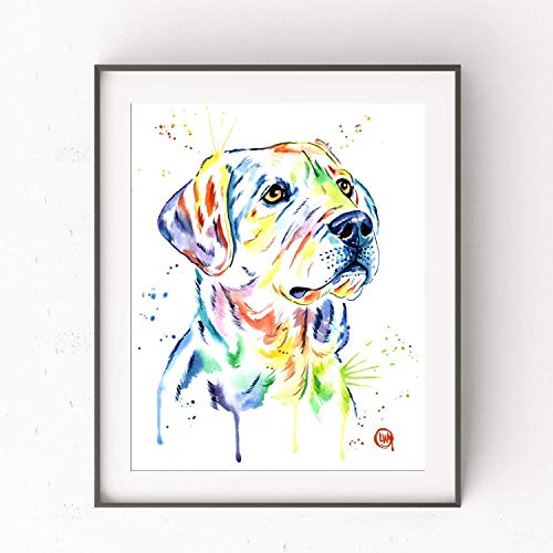 (Labrador Retriever Art Print By Lisa Whitehouse | Labrador Retriever Gifts, Yellow Labrador Retriever Gifts, Watercolor Painting - Art With More)