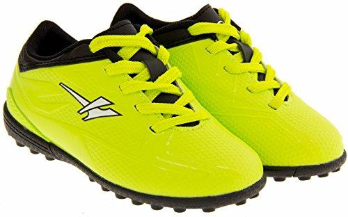 Footwear Studio - Botas de fútbol para niño Negro y Volt